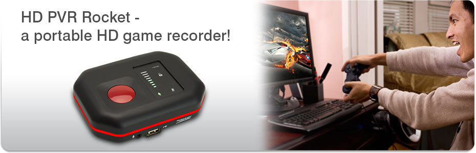 Home Products High Definition video recorders HD PVR Rocket